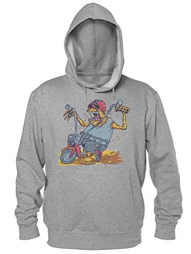 Ew Ugly Creature Riding Motorcycle Männer Kapuzen-Sweatshirt Men's Hooded Sweatshirt (Zombie Dirt)