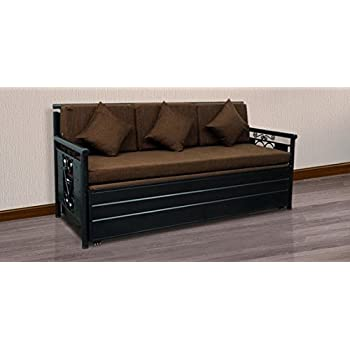 King Size Metal Sofa Cum Bed with Hydraulic Storage by Royal