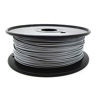 AptoFun Metal- Aluminum Filament (1,75mm, 500g, 190°C - 230°C) mit Premium Qualität für 3D Drucker MakerBot RepRap MakerGear Ultimaker uvm/ auch für 3D-Stifte