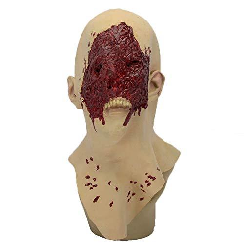 Masken Kostüm Ohne - Halloween Maske Creepy Bloodless Gesicht Ohne Nase Kein Mund Half Body Latex Maske Maskerade Kostüm Dekoration