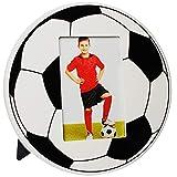 Unbekannt Fotorahmen / Bilderrahmen -  Fußball / Ball  - 10 x 15 cm - Holz - zum Aufhängen & Hinstellen & Aufstellen - Wandbilderrahmen & Tischausteller - Gross - DEK..