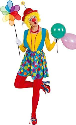 Damen Kostüm Trägerrock Clown Augustine Karneval Fasching (Kostüm Clown Karneval)