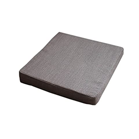 Soft Solid Color Chair Pads Indoor/Outdoor Square-Type Thick Seat Cushions,