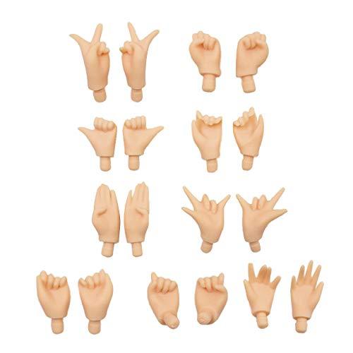 egliche Puppenhände DIY Körperteile Zubehör für 12 Zoll Takara, Blythe, Pullip Puppen - Normal ()