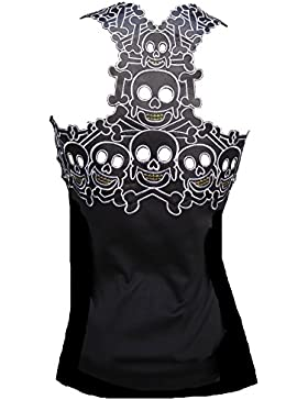 Rockabilly Punk Rock bebé de tirantes para mujer de diseño de colour negro diseño pericárdicoy leonidio camiseta...