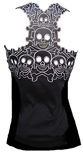 Rockabilly Punk Rock Baby Damen Designer Tank Top Shirt Tiki Skull schwarz Tattoo Design XXL 46 (Punk-rock-tattoo)