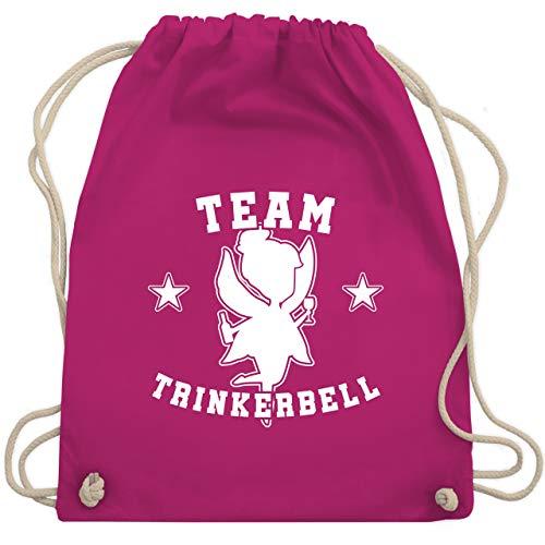 Kostüm Freche Frauen Elfen - JGA Junggesellinnenabschied - Team Trinkerbell Collegestyle - Unisize - Fuchsia - WM110 - Turnbeutel & Gym Bag