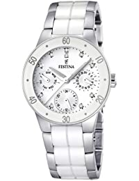 Festina Damen-Armbanduhr XS Trend Multifunktion Ceramic Analog Quarz verschiedene Materialien F16530/3
