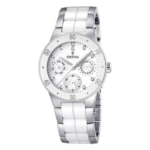 festina damenuhr keramik Festina Damen-Armbanduhr XS Trend Multifunktion Ceramic Analog Quarz verschiedene Materialien F16530/3
