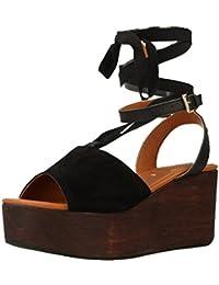 GIOSEPPO zapatos de tacón alto sandalias de madera Spor 39067-02 talla 40 NEGRO FXxp8g
