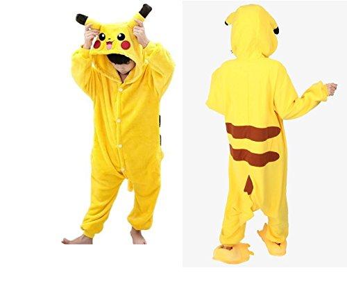 Kinder Kostüme Cosplay Onesie Pikachu L Größe Jumpsuits Pyjama Mädchen Jungen Halloweenkostüm