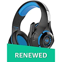 (Renewed) Cosmic Byte GS410 Headphones with Mic and for PS4, Xbox One, Laptop, PC, iPhone and Android Phones (Black/Blue)