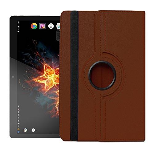 Hülle für XORO TelePAD 96A3 Tablet Tasche Schutzhülle Universal Case Cover NAUCI, Farben:Braun