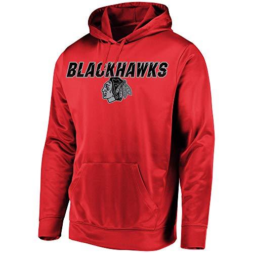 VF Majestic Chicago Blackhawks Herren High Energy Performance Fleece Hoodie, Herren, rot, Small -