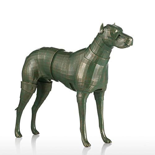 Yxyxml Rüstung Hund Kreative Dekoration Tier Naturharz Harz Skulptur Dekoration Handwerk Geschenke (Hunde Kostüm Rüstung)