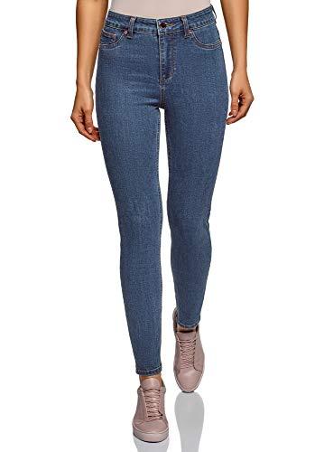 oodji Ultra Donna Jeans Skinny Vita Alta Blu 28W / 32L