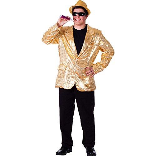 Dress Up America Komplett gefütterte Gold Pailletten Jacke für Erwachsene 6 Zoll Damen Sexy