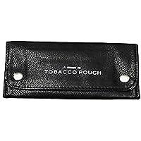 Portatabacco in pelle con fessura cartine per sigarette rizla, colore: nero