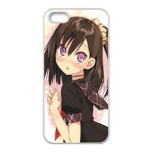 Cute Schoocoque LGirl coque iPhone 4 4S Housse Blanc téléphone portable couverture de cas coque EBDXJKNBO15967