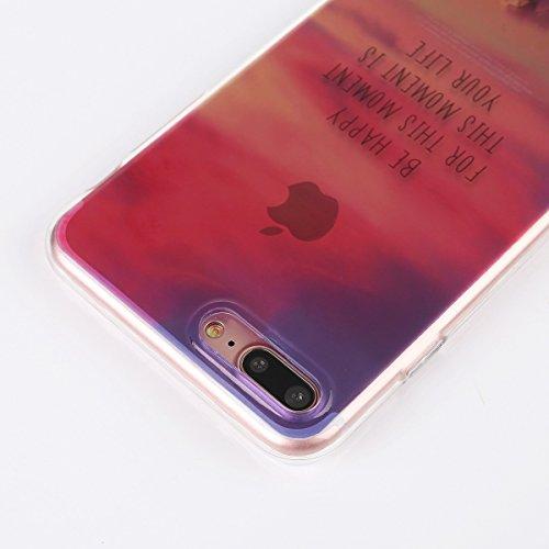 iPhone 7 Plus Silicone Case,iPhone 7 Plus Coque - Felfy Coque Souple Gel Soft TPU Silicone Case Premium Ultra-Light Ultra-Mince Skin de Protection Anti-Choc Bumper Housse Coque Etui pour Apple iPhone  Rouge Ciel