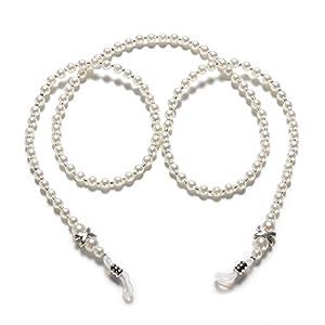 Trixes Brillenkette mit Acryl-Glas-Perlen Ideal Um Ihre Lesebrille sicher Um Den Hals zu Tragen Sonnenbrille Lanyard
