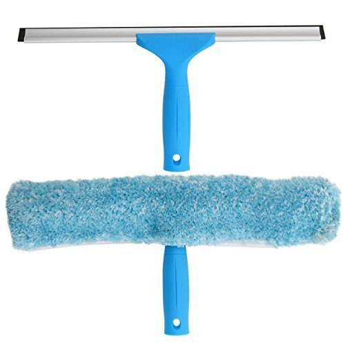 MR. SIGA Window Cleaning Combo - Squeegee & Microfiber Window Washer, Size: 35cm