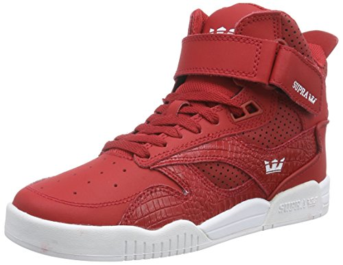 SupraBLEEKER - Sneaker alta Unisex - Adulto , Rosso (Rot (CARDINAL - WHITE   CAR)), 45