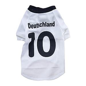 BMD-PET Manteau pour Chien, Coupe du Monde de Football 2014 T-Shirt pour Chien, Chandail pour Chien, Maillot Sportif pour l'Allemagne