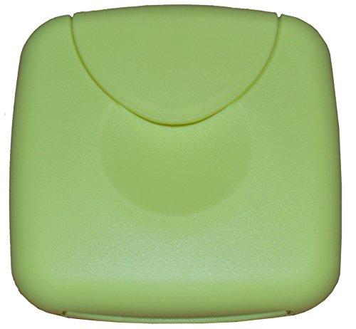 Tampon Aufbewahrung / Tampon Box / Dose für Tampons, Kondome oder Pflaster - Binden und Slipeinlagen (Pastellgrün)