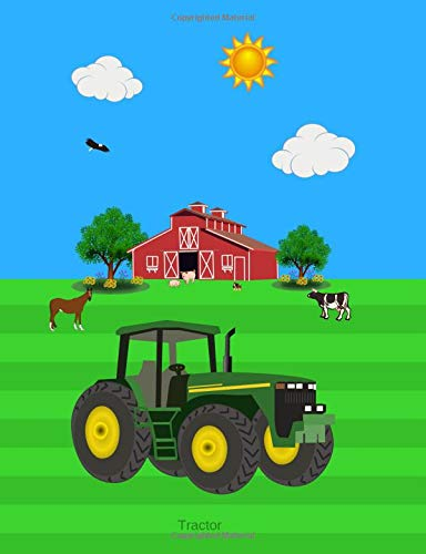 Draw Hoe (Tractor: Primary Story Journal | Grades K-2 Exercise Book | Write and Draw Pages with Picture Space and Dotted Midline)