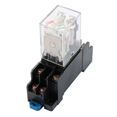 220V/240V, 4-poliger Wechsler Coil 8Pin DPDT Allgemeine Zwecke Power Relay w Sockel -