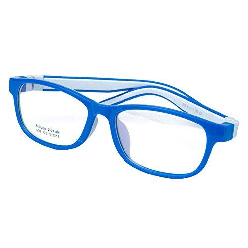 Hibote Mädchen Junge Brillen - Silikon - Clear Lens Glasses Frame Geek/Nerd Brillen mit Car Shape...