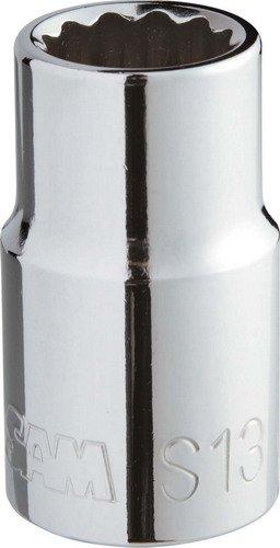 Preisvergleich Produktbild 'Steckschlüssel, 1/2–12-Kant, silber, S-33