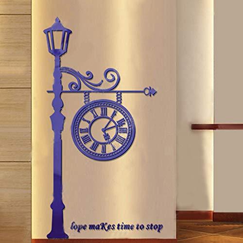 3D Stereo Acryl Crystal Straße-Lampe Wand Aufkleber Wohnzimmer Schlafzimmer guan Kinder dekorieren selbstklebenden Wand Sticker 2100 * 1130mm blau -