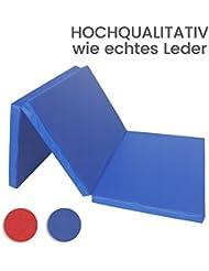 Niro Sportgeräte GmbH Tapis de sol mou pliable 3 fois Bleu