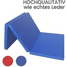 Gimnasia colchoneta 3 x plegable Amarillo, Rojo, Azul - Azul, 180 x 80 x 6,1 cm