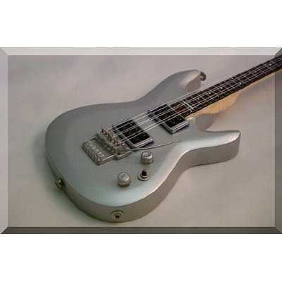 JOE SATRIANI Miniatur Gitarre Ibanez Silver