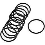 Tradico® 10 Pcs 36mm X 2.4mm Black Silicone O Rings Oil Seals Gaskets