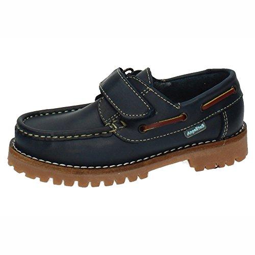 ANGELITOS 804 Zapatos NAÚTICOS NIÑO Zapatos MOCASÍN Azul Marino 32