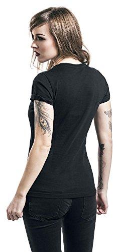 Queens Of The Stone Age Space Logo T-shirt Femme noir Noir