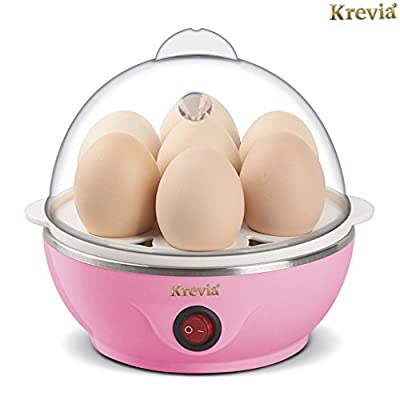 Krevia Eggs Device Multifunction Poach Boil Electric Egg Cooker Boiler Steamer Automatic Safe Power-Off Cooking Tools Kitchen Utensil