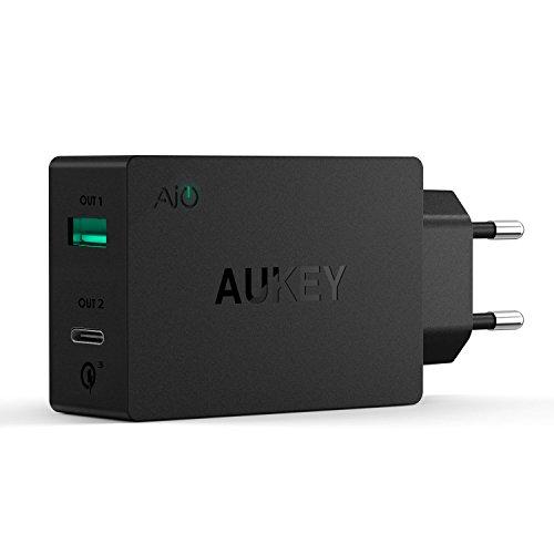AUKEY USB C Ladegerät Duale Ports mit AiPower Technologie 5V 2.4A für LG, HTC, Nexus, Xiaomi, HUAWEI und andere Geräte