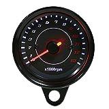 Elektronischer Tachometer, DC 12V Geschwindigkeitsmesser Universal Motorrad LED Hintergrundbeleuchtung Tachometer Elektronische Tachometeranzeige