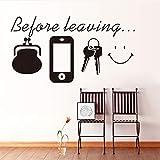 Cmdyz Bevor Sie Wand Zitat Aufkleber Aufkleber Tasche Mobile Reminder Tapete Kunst Tür Wohnzimmer Wand Poster Grafik Diy Dekor