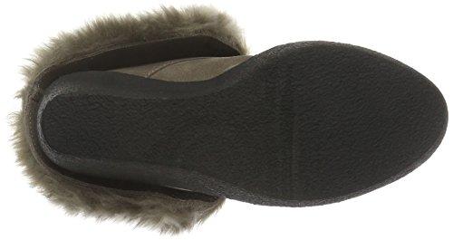 Buffalo London Damen 415-1875 Cow Suede Kurzschaft Stiefel Grau (Taupe 01)