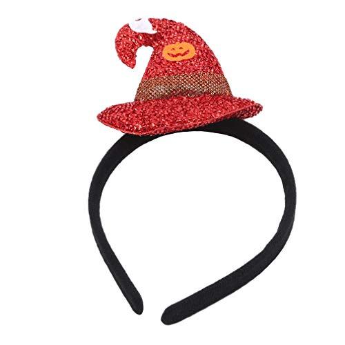 Flippige Kostüm Für Erwachsene - WEIHEEE Kreatives Halloween Hut Stirnband Mode Frauen Mädchen Dekoration Stirnband für Halloween Kostüm Party, rot