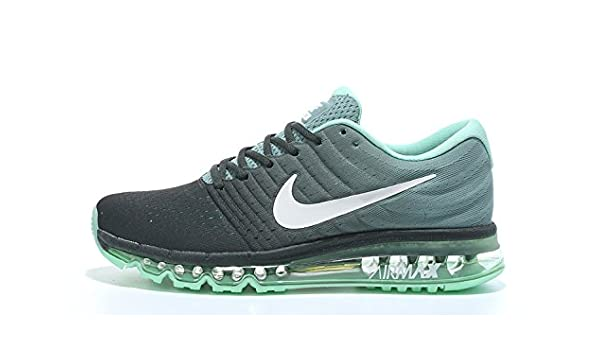 Air Max 2017 Men Running Imported Black Green Sports Shoes