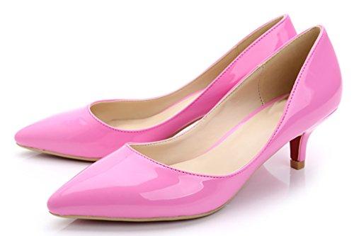 CAMSSOO - Punta appuntita donna rose patent pu