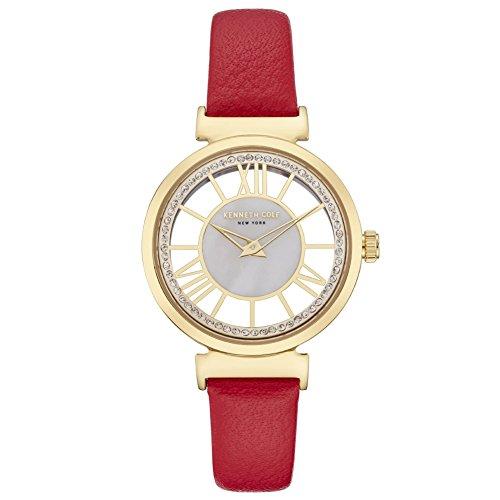 Kenneth Cole Reloj Analógico para Mujer de Cuarzo con Correa en Cuero KC50189001
