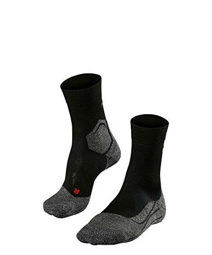 FALKE Damen Socken Laufsocken RU3 - 1 Paar, Gr. 37-38, schwarz, feuchtigkeitsregulierend, Sportsocken Running